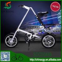 2015 fancy design with double disc brakes folding mountain bike