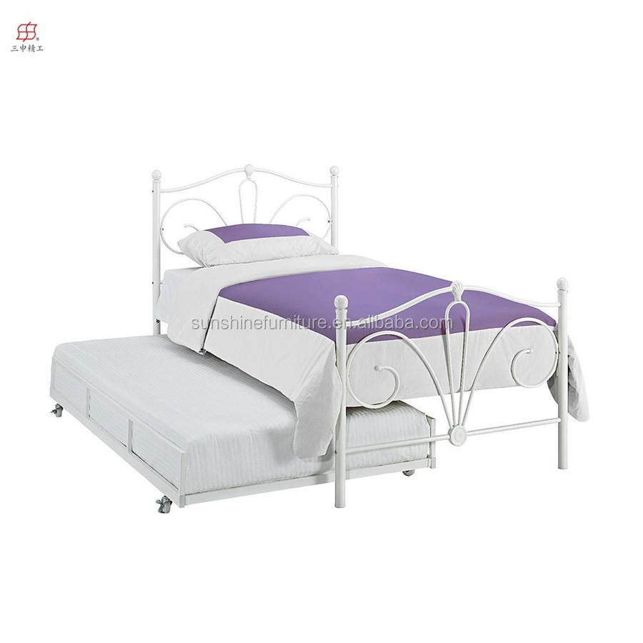 esential enfants meubles de maison moderne m tal lit gigogne en blanc lit en m tal id du produit. Black Bedroom Furniture Sets. Home Design Ideas
