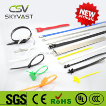 2015 factory manufacturer hot sale free sample self lock 100pcs package elastic fabric bands with ROSH ISO CE certificate