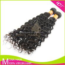 Factory Wholesale Mongolian Virgin Weaving 100% Human Hair