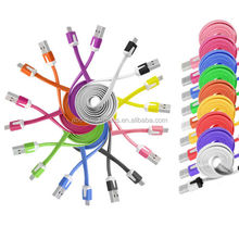 1m 2m 3m FLAT NOODLE MICRO USB CHARGER CABLE FOR SAMSUNG GALAXY S5 S4