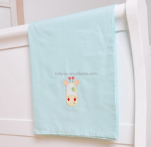 100% cotton woven embroidery baby bedding/flat sheet/Will I be big one day