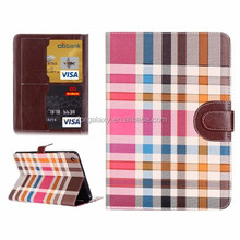 Colorful Plaid Pattern Leather Case for iPad Mini 3
