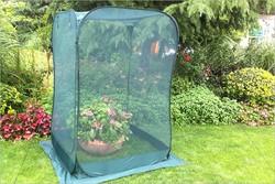 2016 New min rectangle Dark green mesh Pop-Up Fruit Cage for garden or flower