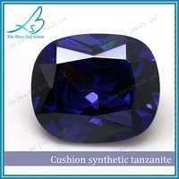 12*14mm Cushion cut tanzanite lab created gems