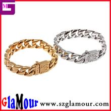 Best Price Silver Gold Black Color Bracelet jewelry 316L Stainless steel Jewelry Mens bracelets