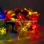 Chrismas decorativa luzes led string pingente forma de flor sakura