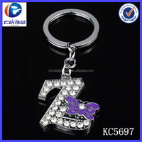 New China Product For Sale Diamond Letter Z Keychains wholesale