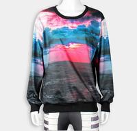 Wholesale Female Hoodie Pullover Sweatershirt Plus Size Scenery Print Tops N9-125