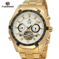 Customized Hot Sale Forsining Best Tourbillon Automatic Golden Movement Watches For Men