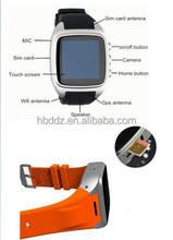 HBD-06 micro sim card watch phone GPS, 3G dual core, Android 4.4.2 wifi Smart Watch / BT4.0 3G Watch Phone