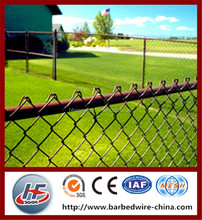 Fencing type iron material chain link fence per sqm weight,PVC coated frame finishing 1 inch chain link fence