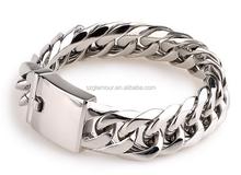 Men's Large Heavy Stainless Steel Bracelet Link Wrist Silver Biker jewelry fashion