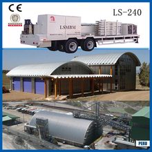 Movable Trailer mounted Arch roof forming machine 240