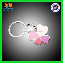 Lucky grass pink series metal key chain