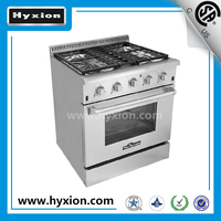 "Hyxion 30"" gas kitchen stoves induction hob halogen oven cooker"