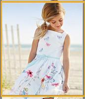 Hot Sale Nice Design Cheap Wholesale Flower Girl Dress Girls Printed Dress