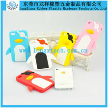 Cute Penguin Shape 3d silicone phone case,cute silicone cell phone case