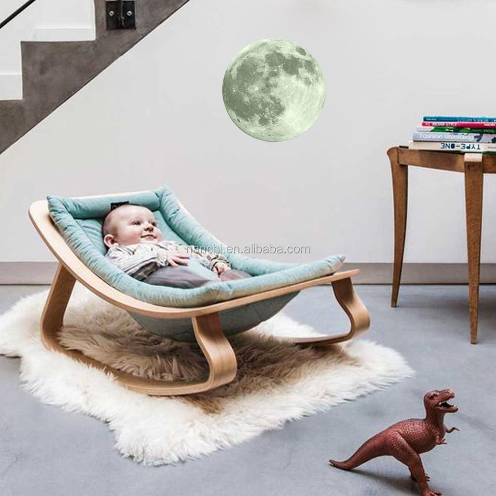 8 색상 빛나는 밤 달 벽 스티커 창조적 인 홈 장식 어두운 방 침실 ...