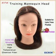 baratos de plástico del pelo de la cabeza maniquí de cabeza humana y diseño para la formación de muchos colores disponibles