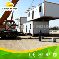 Welldesigned heatproof export prefab container house for refugees