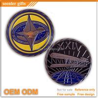oblique cut edge antique silver custom enamel challenge coins