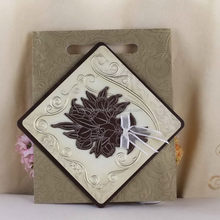 High quality branded wooden wedding card wooden