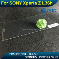 laptop computer screen protector for sony , 9H 0.33mm 2.5D tempered glass screen protector back cover for SONY Xperia Z L36h