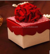 red rose flower wedding favor box in china canton fair 2015