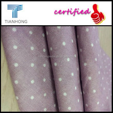 100 cotton double layer fabric wholesale/yarn dyed Polka dots print fabric textile/Japanese pajamas Uniqlo fabric supplier