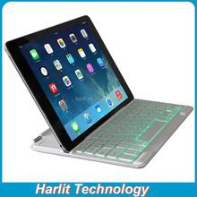 For iPad Air 2 Ultrathin Aluminum Bluetooth Keyboard Case White For iPad Air Slim Aluminum Bluetooth Keyboard 7 Color Back Light