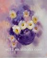 Decorativos de flores pintadas a mano de pintura al óleo sobre lienzo wl-226