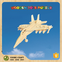 Plywood Airplane toy DIY kit 3d puzzles for adults