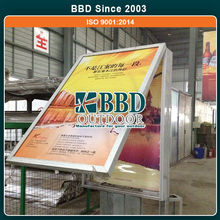 Cheap well stand outdoor advertising lighting double sided sign