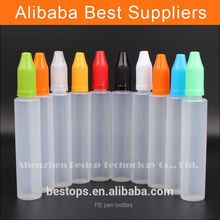 Free Samples 10ml plastic bottle eliquid tamper pilfer proof cover and metal drip e liquids Free Shrink Film