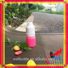 Unique Design 15ml PET Essentail Oil Bottle Dropper new fancy colors black/smoke black