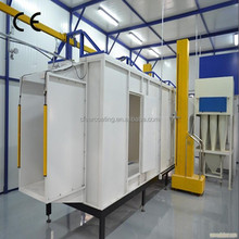Customized powder coating and steel substrate electrostatic spray paint booth