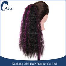 New product hairpieces long curly weave drawstring ponytail