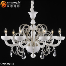 Modern family life fragrance lamp wedding decoration plastic chandeliers crystal candelabra OMC024-8W