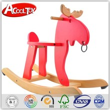 alibaba.com in russian new model cuteness red wooden rocking horse toy for children