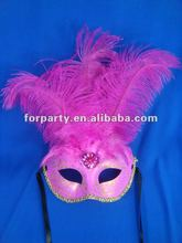 CG-PM009 Ostrich feather mask beautiful mask