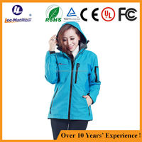 Womens Clothing Winter Far infrared heated Clothing Outdoor OEM/ODM 4000mAh battery heating resistant ski jacket