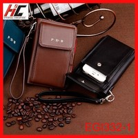 Hot selling Hand strap branded gents wallets mens leather cell phone wallet teen boy wallets