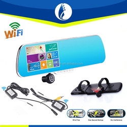 New Arrival Android 4.1 WR-DVR3541 5 Inch Car Dvr + GPS Navigation + Rearview Mirror Car Camera+wifi transceiver