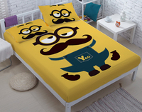 DIY Small yellow people bed sets for adult children bed linen with duvet cover/bed sheets kids bedding king twin queen size