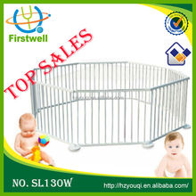 Natural wooden baby playpen/large baby play yard, lightweight baby fence