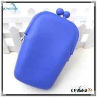 Wholesale Promotional Gift Mini ladies handle silicone mobile phone bag