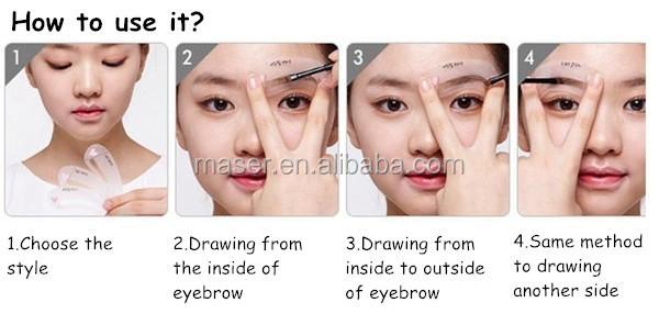Plastic diy eyebrow extension kitmakeup cosmetic tools eyebrow drawing methodg maxwellsz