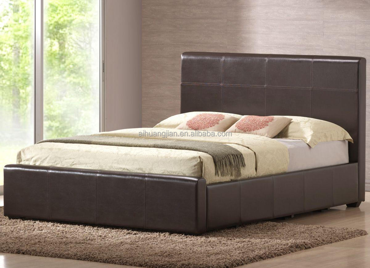 Hot sale faux leather bed faux leather sofa bed for sale for Cheap divan beds for sale