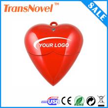 Red heart usb flash memory , promotional cheap heart usb 2gb,heart shape pen drive